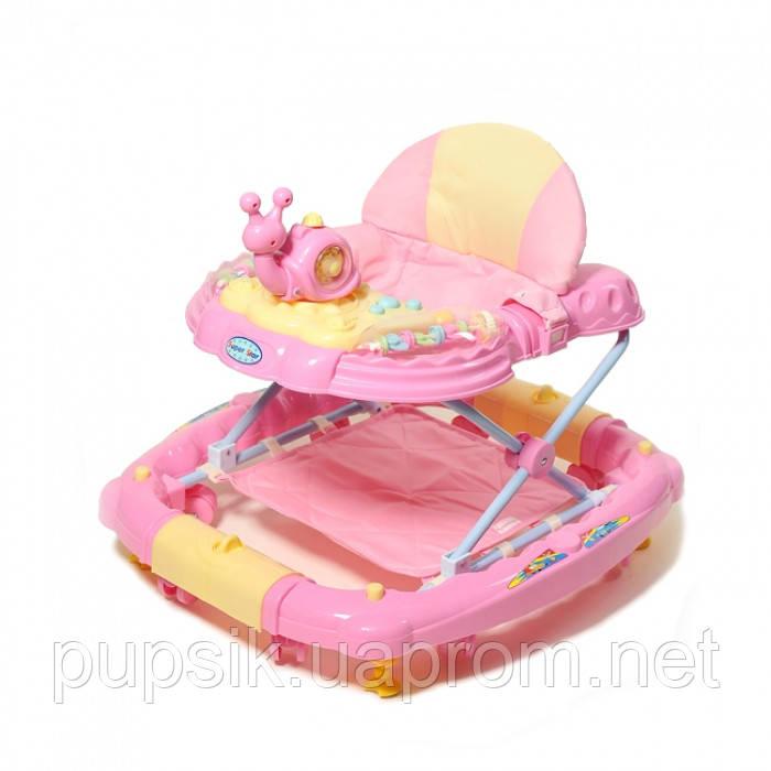 Ходунки детские TILLY 6221SY PINK с качалкой