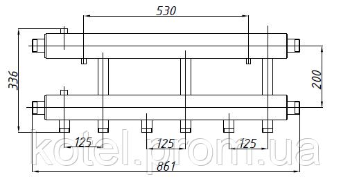 Размеры коллектора СК 342.125