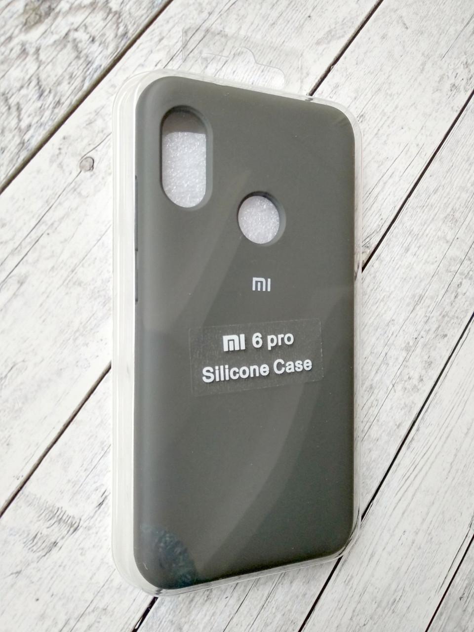 """Чехол Xiaomi Redmi 6 Pro/Mi A2 Lite Silicon Original Full №6 cocoa """"Спец предложение!"""""""