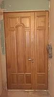 Дверь входная из массива дуба полуторная