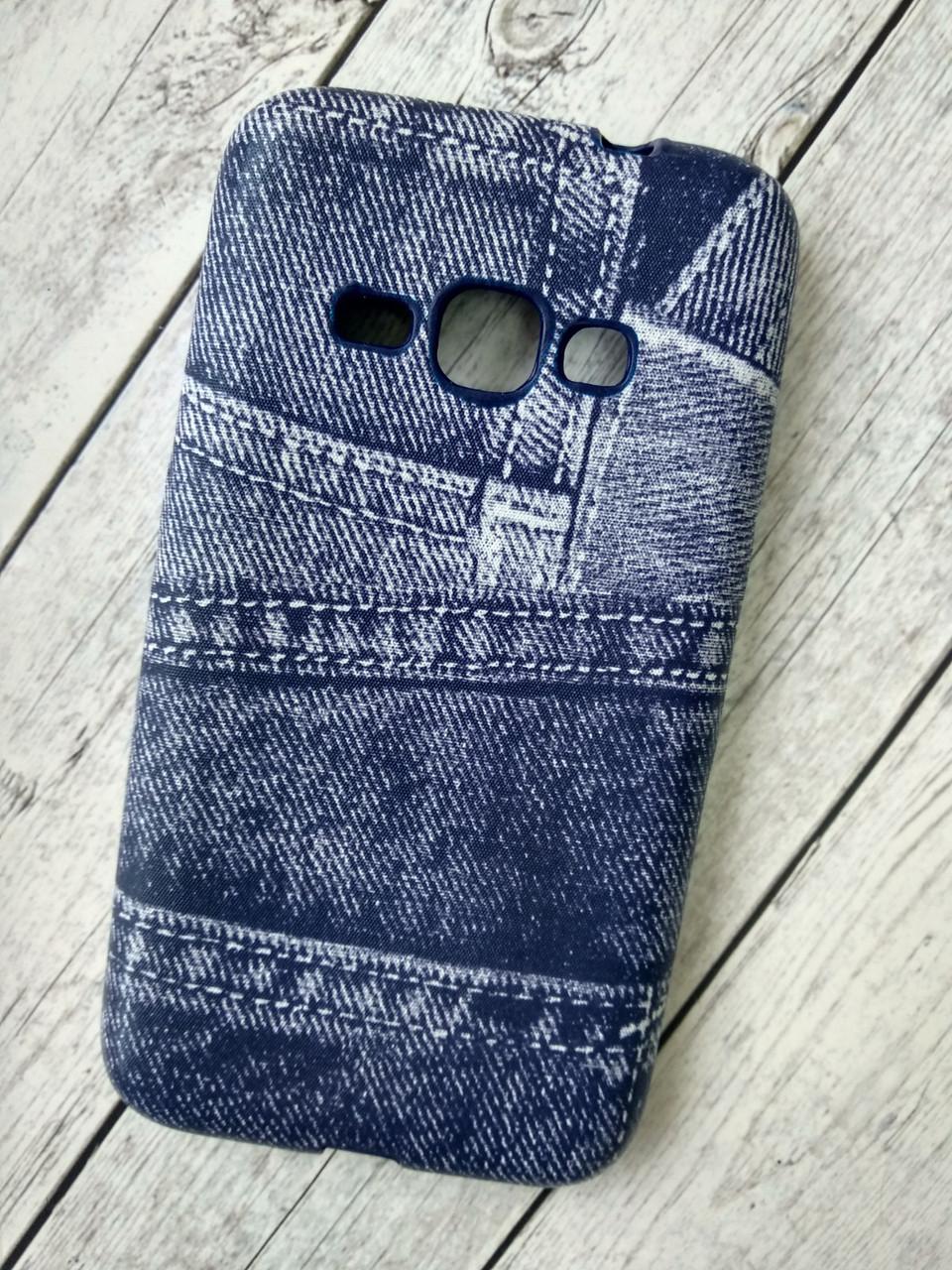 "Чехол Lenovo A6000 Silicon (плотный) ""Jeans"" blue"