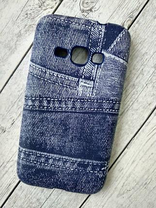 "Чехол Lenovo A6000 Silicon (плотный) ""Jeans"" blue, фото 2"