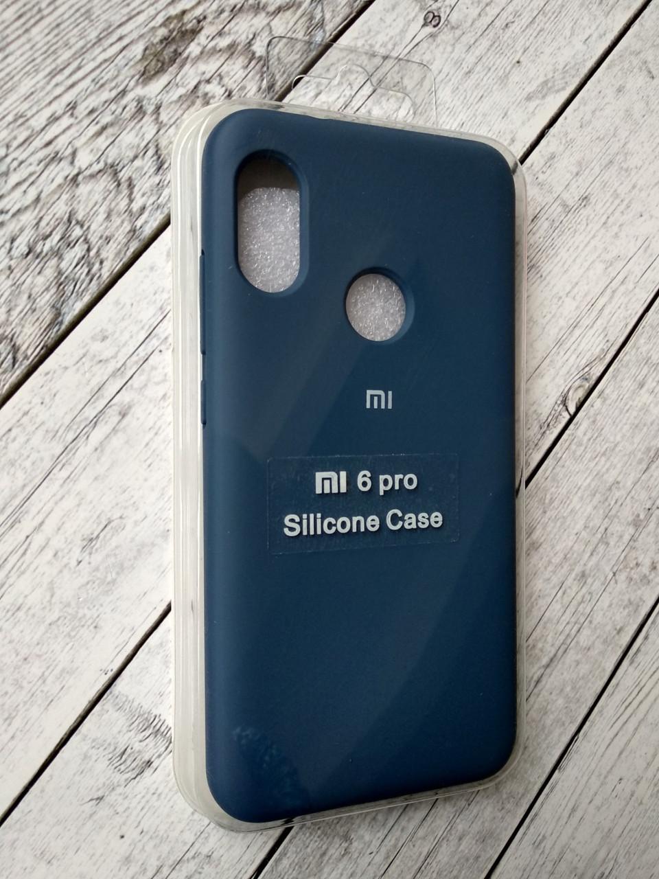 Чехол для Xiaomi Redmi 6Pro/Mi A2 Lite Silicone Original Full №13 dark blue