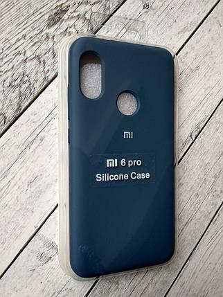 Чехол для Xiaomi Redmi 6Pro/Mi A2 Lite Silicone Original Full №13 dark blue , фото 2
