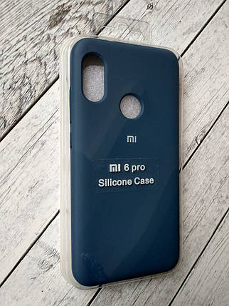 "Чехол Xiaomi Redmi 6 Pro/Mi A2 Lite Silicon Original Full №13 dark blue ""Спец предложение!"", фото 2"