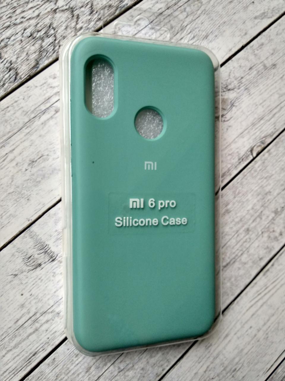 Чехол для Xiaomi Redmi 6Pro/Mi A2 Lite Silicone Original Full №9 azure