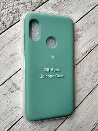 Чехол для Xiaomi Redmi 6Pro/Mi A2 Lite Silicone Original Full №9 azure , фото 2
