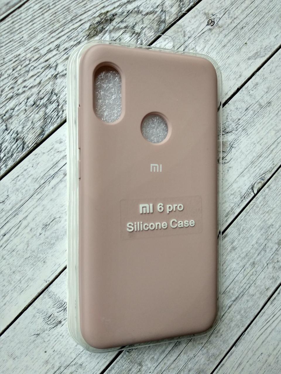 Чехол для Xiaomi Redmi 6Pro/Mi A2 Lite Silicone Original Full №3 pink sand
