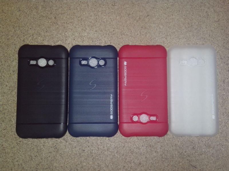 Чехол для Samsung J1Ace /J110 Silicone Goospery черный (полиуретан)