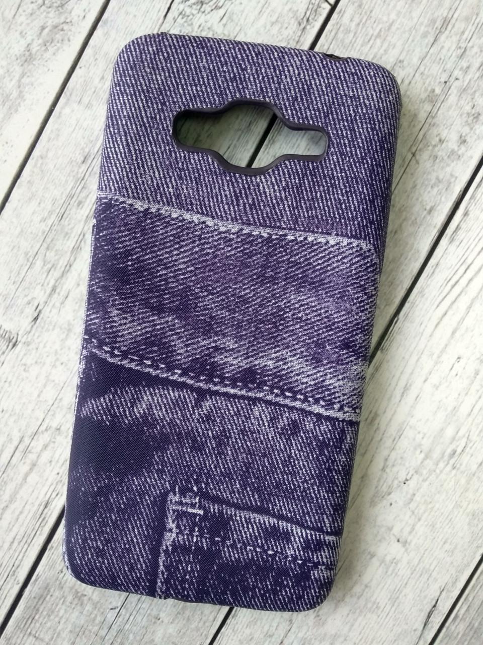 "Чехол Lenovo A6000 Silicon (плотный) ""Jeans"" violet"