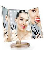 Дзеркало для макіяжу з підсвічуванням Superstar Magnifying Mirror 22 LED As Seen On Tv Оригінал Білий + ПОДАРУНОК, фото 1