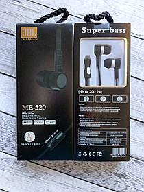 Наушники JBL ME-520 black/white (микрофон, плоский шнур)