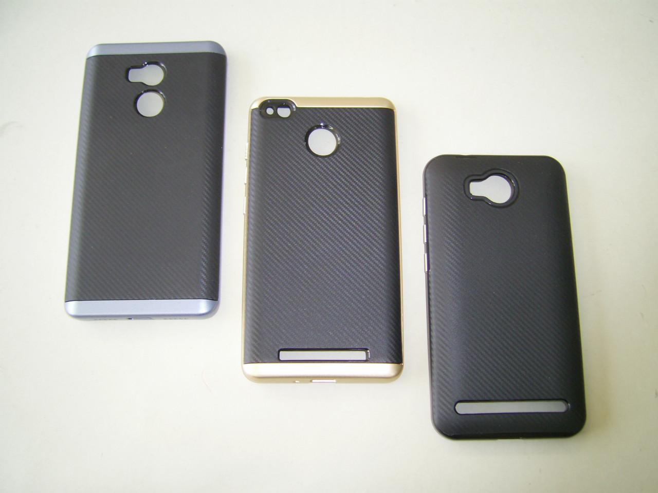 Чехол для Samsung A5/A520 Silicone iPaky с пластиковой рамкой black/gold