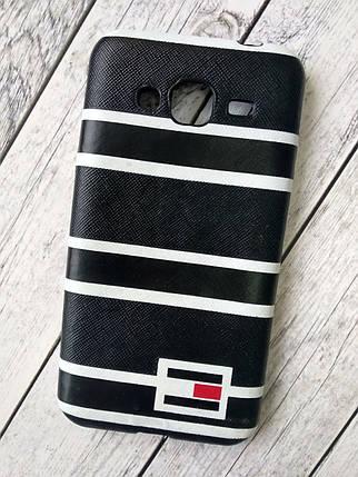 "Чехол Samsung J5 Prime Silicon (плотный) ""Tommy Hilfiger"" black, фото 2"