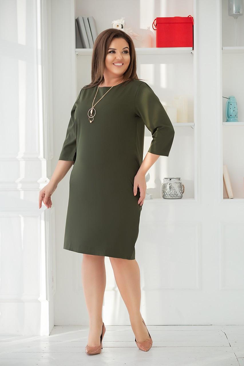 ee918faf9de Изумрудное платье прямого силуэта (50-60) - Magret женская и мужская одежда  от