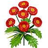 Букет искусственных цветов Маргаритка цветная с подкустником , 32 см