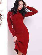 Вязаное женское платье-миди по фигуре (137 mrs), фото 2