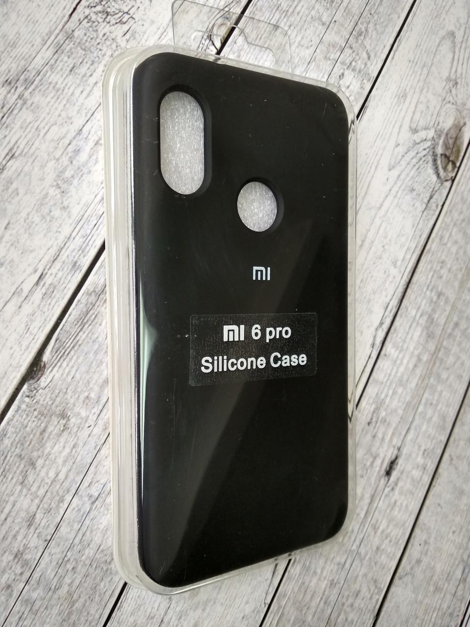 Чехол для Xiaomi Redmi 6Pro/Mi A2 Lite Silicone Original Full №1 black
