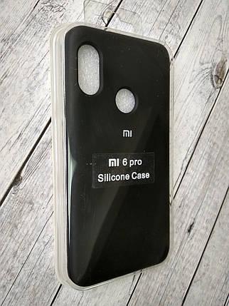 Чехол для Xiaomi Redmi 6Pro/Mi A2 Lite Silicone Original Full №1 black , фото 2