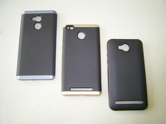 Чехол Samsung A3/A320 Silicon iPaky с пластиковой рамкой black/gold, фото 2