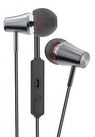 Наушники Golf M6 Little Trumpet black/grey (круглый шнур)
