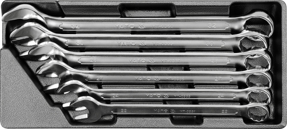 Вставка для сервисной тележки с 6 ключами YATO YT-5532