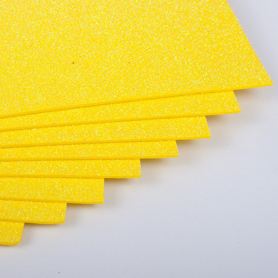 Фоамиран с глиттером Kidis А4 7941 297*210 мм 2 мм 10 шт/уп желтый