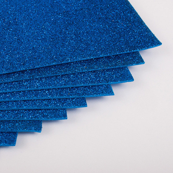 Фоамиран с глиттером Kidis А4 7944 297*210 мм 2 мм 10 шт/уп синий