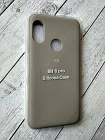 Чехол Xiaomi Redmi 6 Pro/Mi A2 Lite Silicon Original Full №11 dark olive