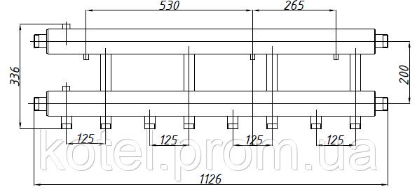 Размеры коллектора СК 442.125
