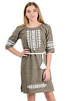 Платье вышиванка с пояском, фото 1