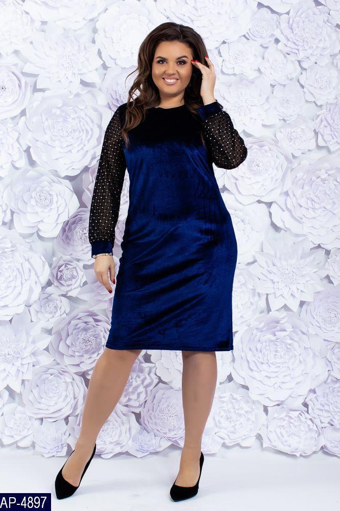 Стильное платье     (размеры 48-58)  0147-97