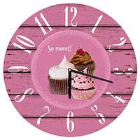 Настенные часы Sweet time (дерево) оригинальный подарок прикольный