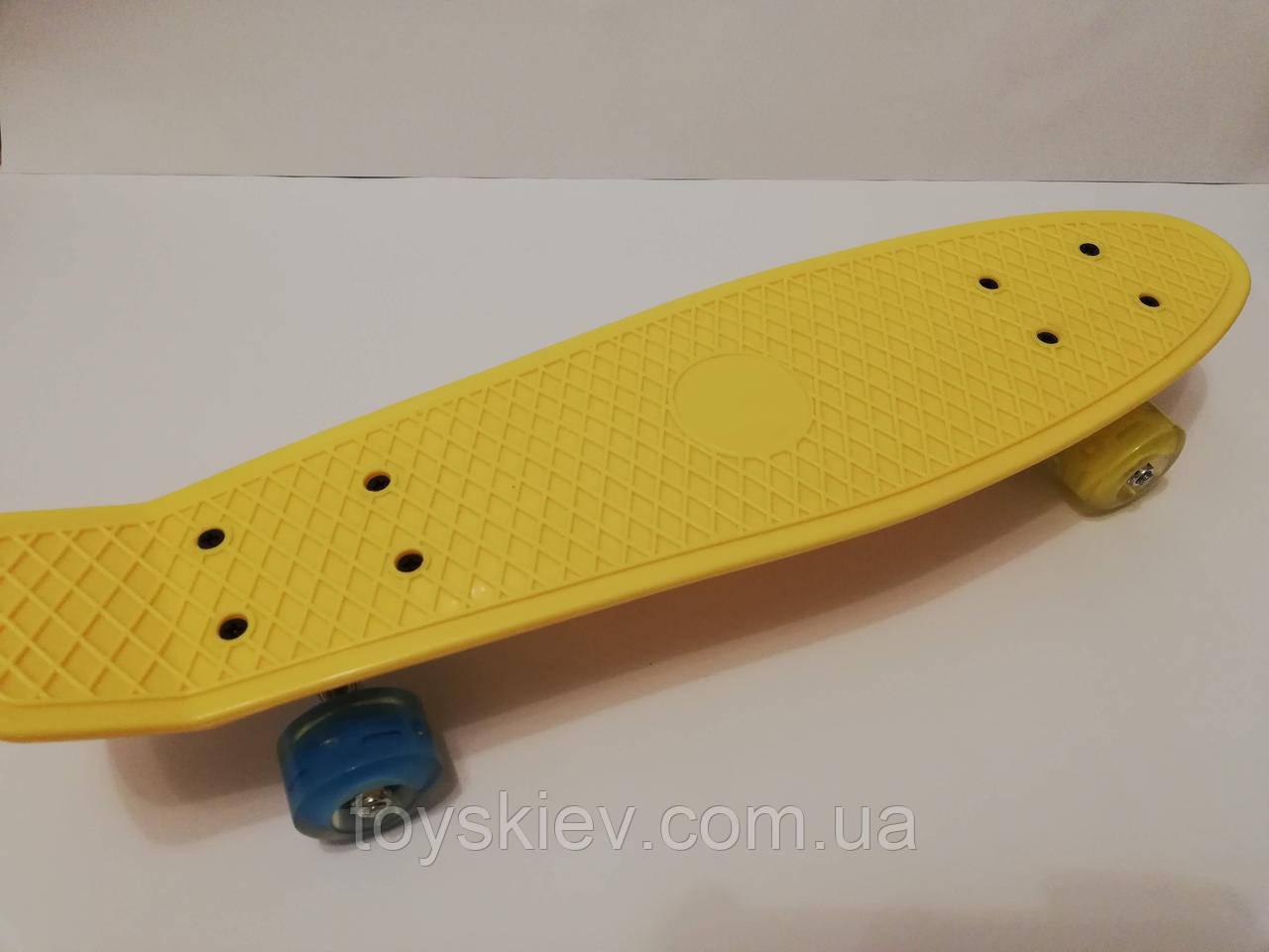 Скейт Пенни борд (Penny board) светящиеся колёса. 55см. 44-1-2