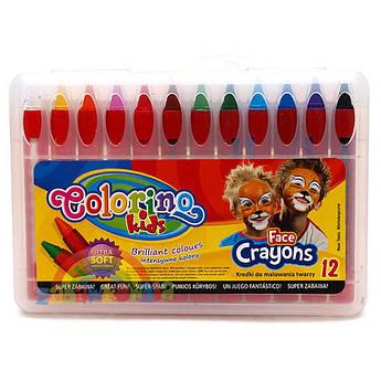 Краска для лица Patio Colorino 32650PTR 12 цветов по 4,5 г