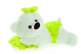 Плюшевая мишка Малышка Алина белый с лимонным 45 см