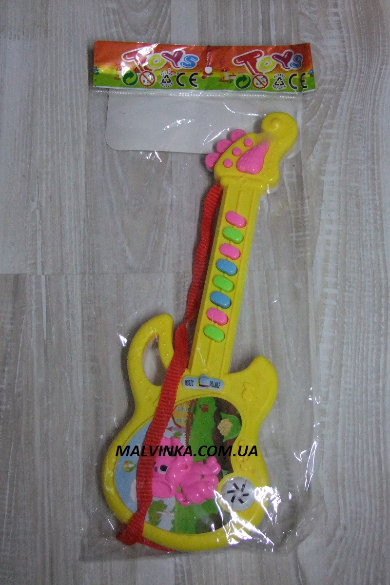 Гитара музыкальная арт 688 ,батарейки,30 см.