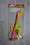 Гитара музыкальная арт 688 ,батарейки,30 см., фото 3