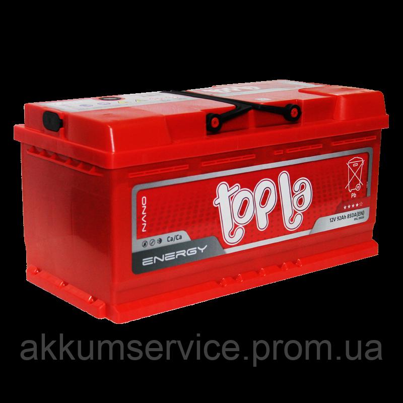 Аккумулятор автомобильный Topla Energy 92AH R+ 850A
