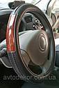 Оплетка на руль, экокожа черная., фото 3