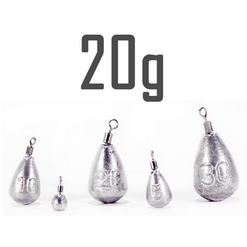"""Груз """"Джиг-Риг"""" 20 г. свинцовый (5 шт.) Днипро-Свинец"""