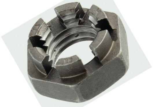 Гайка корончатая М14 низька DIN 937 оцинкована (ГОСТ 5919-73)