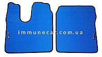 Авто ковры EVA на грузовик MAN TGA xl узкая кабина синего цвета