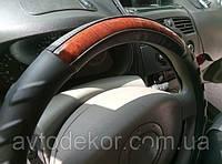 Оплетка на руль, экокожа черная.