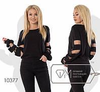 Нарядная женская свободная свитер кофточка чёрная S M L, фото 1