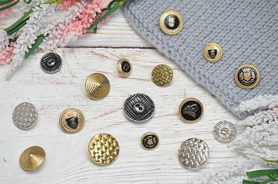 Пуговицы металлические для пальто, кардиганов, рубашек