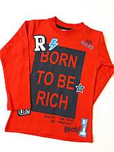 Детский батник (реглан) на мальчика турецкой фирмы BornToBeRich, красный