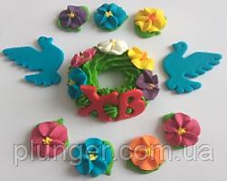 Пасхальный декор Веночек с голубями