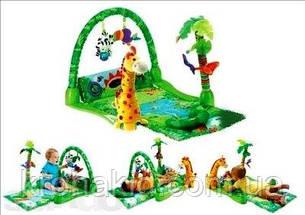 """Детский развивающий коврик  3059 """"Тропический лес"""", с музыкой, на батарейках, фото 2"""