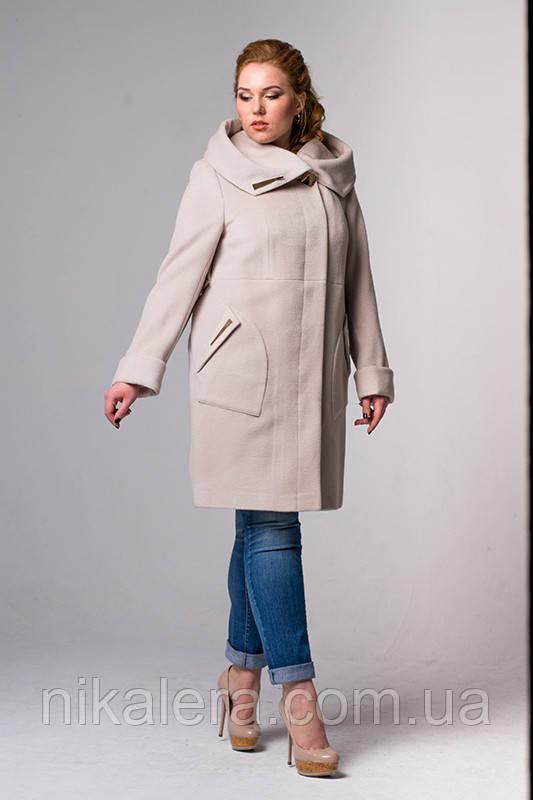 Женское пальто из ворсового кашемира рр 46-56